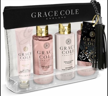 Grace & Cole Vanilla & Peony Travel Set