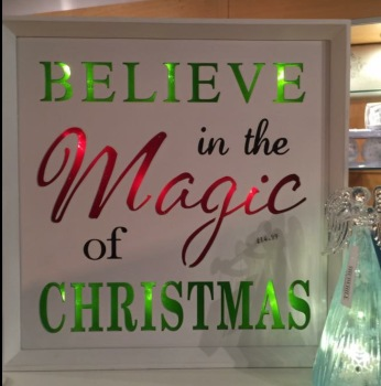Believe in The Magic Of Christmas LED Wall Plaque
