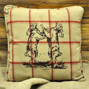 Dancing Hares Cushion 45 x 45cm (with inner)