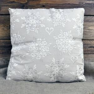 Ivory Square Cushion 40x40cm (with inner)