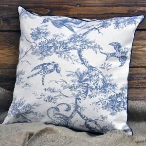 blue Pheasant Cushion 45 x 45cm (with inner)