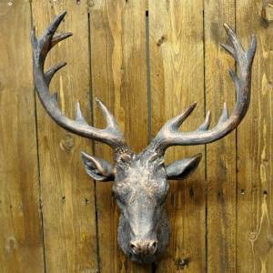 bronze resin deer head