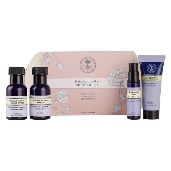 Neals Yard Rehydrating Rose skincare kit