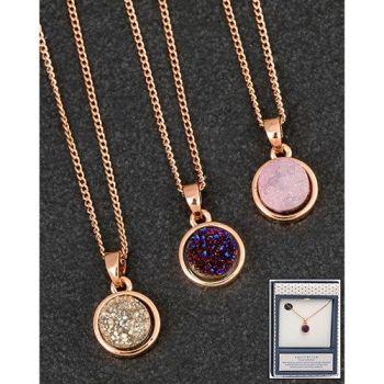 Equilibrium RGP Druzy Agate Necklace