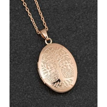 Tree of Life Rose Gold Plated Locket