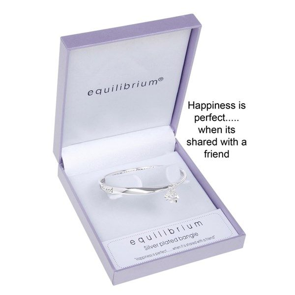 Equilibrium Dangle Flower Bangle Friend