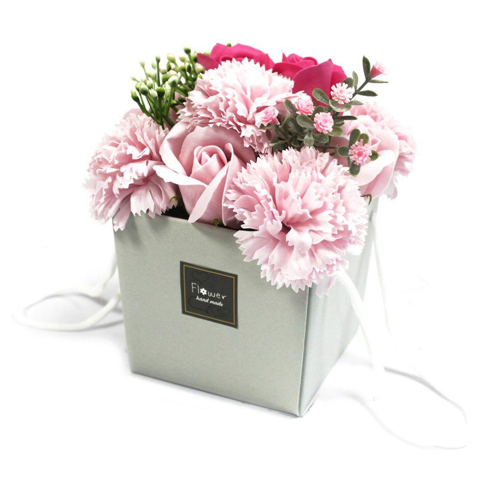 Soap Flower Bouquet - Pink Rose & Carnation