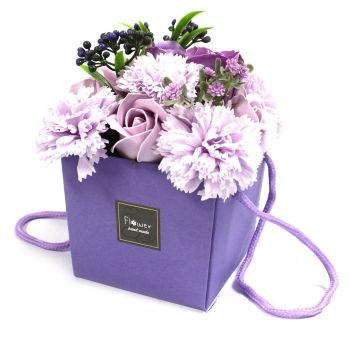 Soap Flower Bouquet - Lavender & Carnation