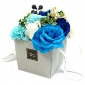 Soap Flower Bouquet - Blue Wedding