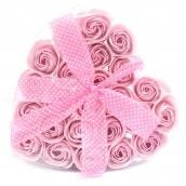Soap Flower  - Set of 24  Pink Soap Flower Heart Box