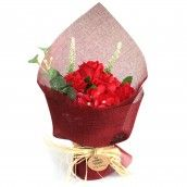 Soap Flower Standing Bouquet - Red