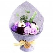 Soap Flower Standing Bouquet - Purple