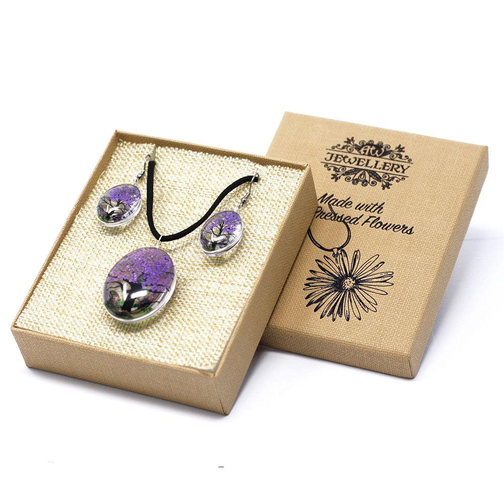 Pressed Flowers - Tree of Life set - Lavender