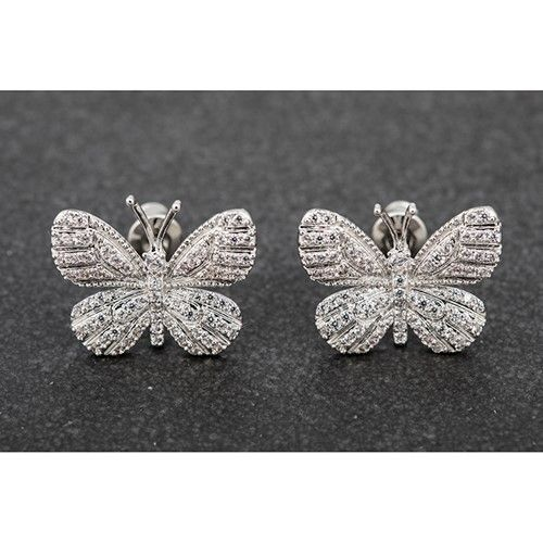 intricate butterfly studs