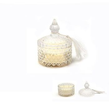 Desire candle in glass jar with lid - tropical citrus & sage