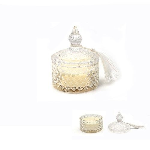 Desire candle in glass jar with lid - citrus