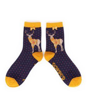 Jumper Stag Bamboo Socks (dark)