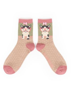 Pussy in Specs Bamboo Socks