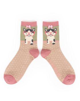 Pussy in Specs Bamboo Socks