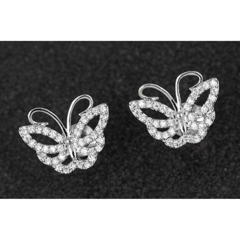 Delicate Pave Butterfly PP Earrings