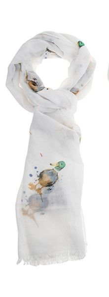 Country Animals Printed Scarf - Duck