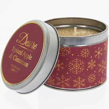 Desire Xmas Candle Tin Cinnamon