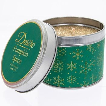 Desire Xmas Candle Tin Pumpkin