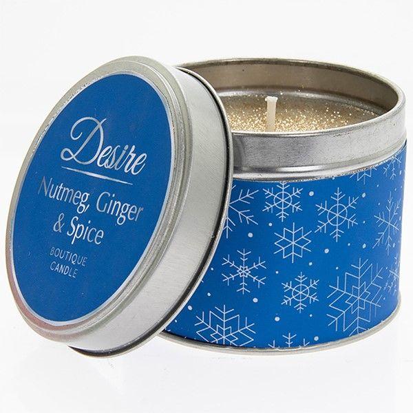 Desire Xmas Candle Tin Nutmeg
