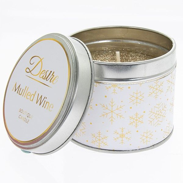 Desire Xmas Candle Tin Mulled