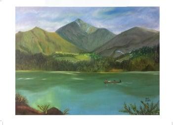 Mountain Lake - size A4