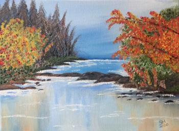 Blossom River   - size A4