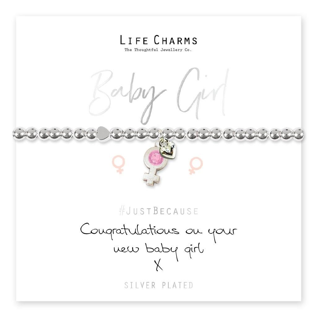 Congratulations of your new baby girl Bracelet