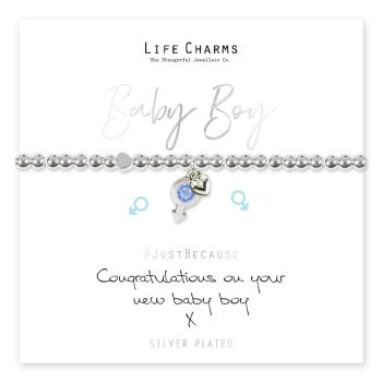 Congratulations of your new baby boy Bracelet