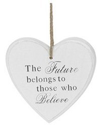 Plaque - The future belongs to those who believe