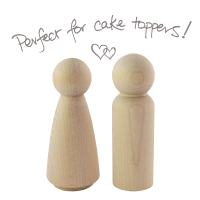 Peg people couple - man & woman