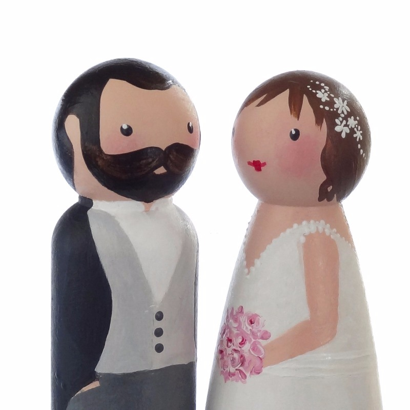 peg doll wedding cake toppers uk personalised peg dolls amp wedding cake toppers 18184