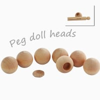 Head beads / dowel caps 1 1/4
