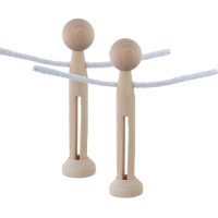 EXCLUSIVE SET! Two peg dolls - bespoke peg shapes, special smaller heads plus stands & arms