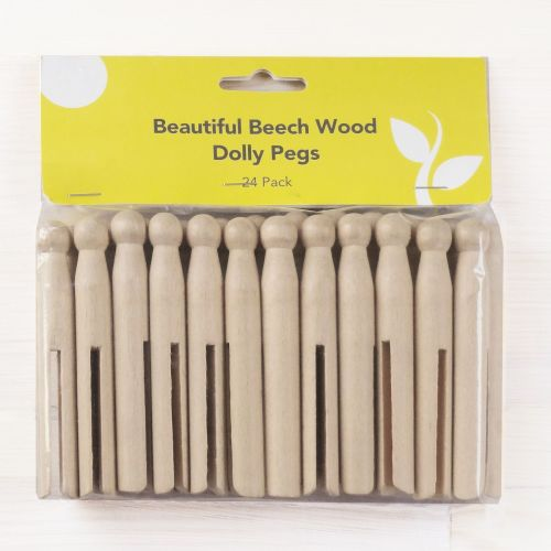 24-pack of traditional dolly pegs