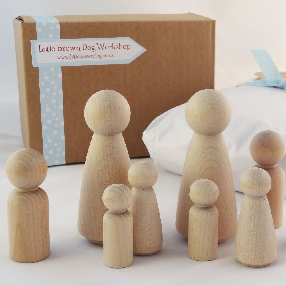 Peg Doll family - £2.75+ - CHOOSE WHO'S IN IT!