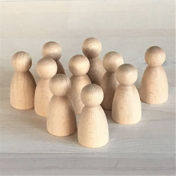 6cm tall rounded body doll figures (6, 10 or 12 from £6.30+)