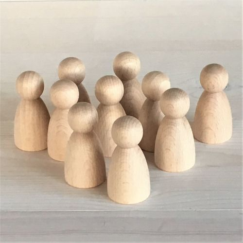 6cm tall rounded body dolls