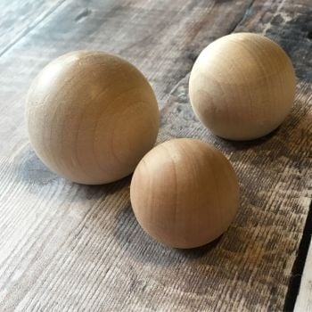 Round ball door knobs - 1 each of small, medium and large