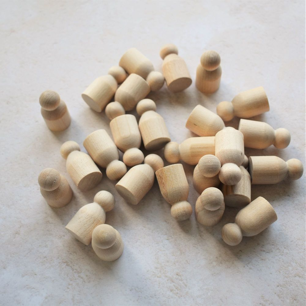 25-pack of 3cm tall 'tot' peg doll shapes - 10% off