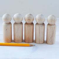 Bargain! Ten 9cm tall peg doll men - 15% off (Seconds)