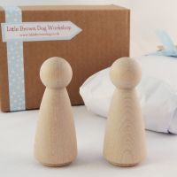 Two peg doll ladies  - 9cm peg people woman, women couple