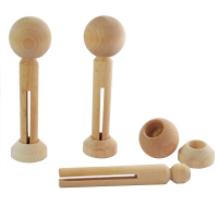 Dolly pegs, heads, stands for 3 peg dolls - no arms