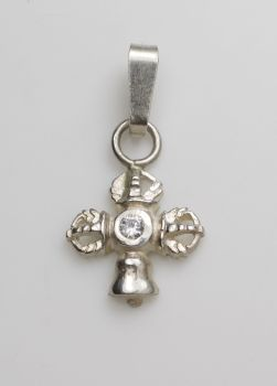 Vajra and bell pendant small silver