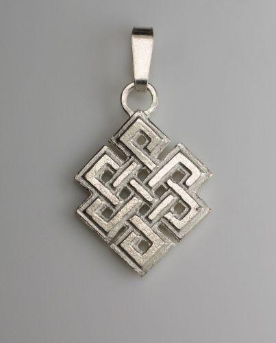Knot pendant - large silver