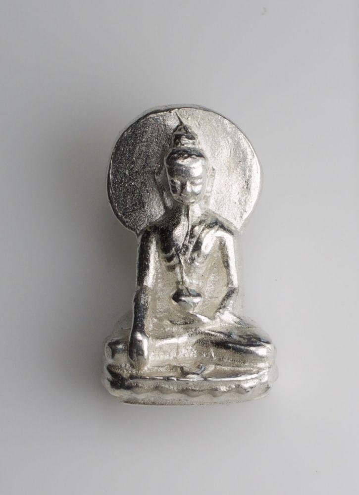 Buddha statue pendant - silver